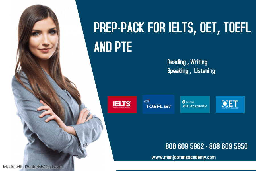 PREP-PACK FOR IELTS, OET, TOEFL AND PTE