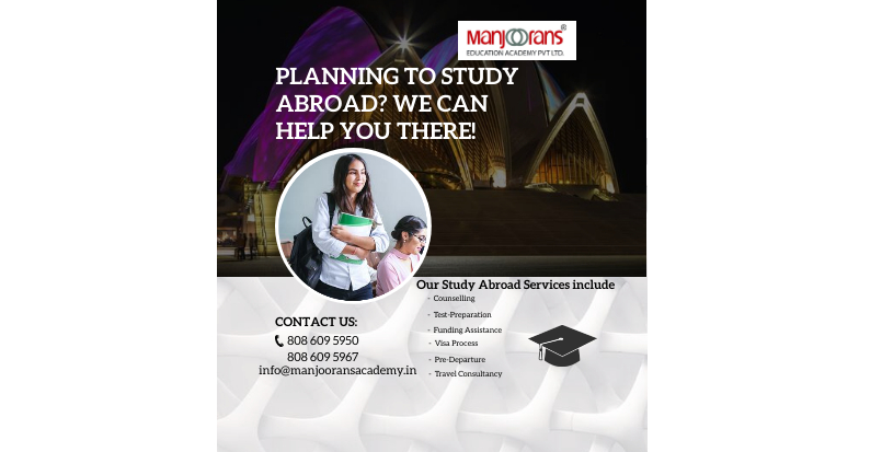 PLANNING TO STUDY ABROAD? WE CAN HELP YOU THERE!